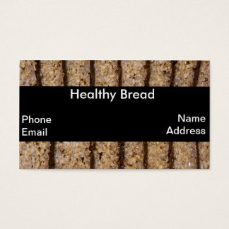 Fresh German Whole Grain Bread and Pumpernickel Business Card