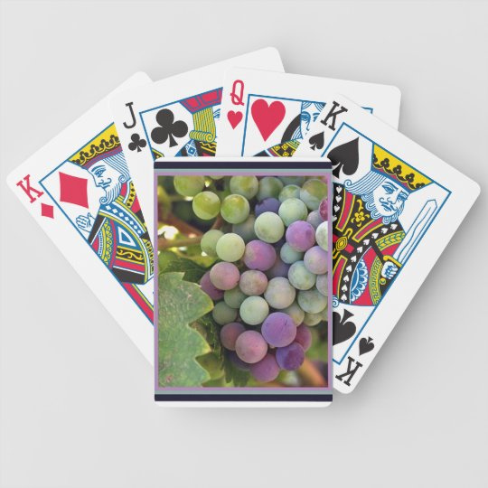 Fresh Grapes and Wine Bicycle Playing Cards