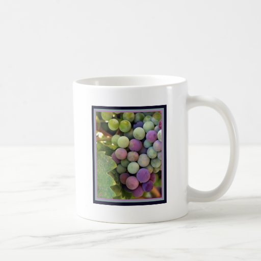 Fresh Grapes and Wine Mugs