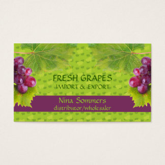 Fresh Grapes Business Card