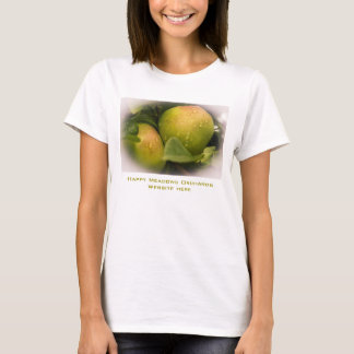 Fresh Green Apples with a Misty Border Business T-Shirt