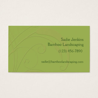 Fresh Green Bamboo Customizable Templates Business Card