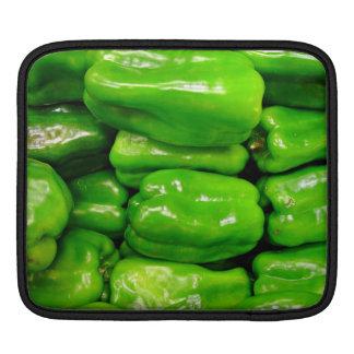 Fresh green capsicum iPad sleeve