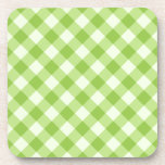 Fresh, green gingham pattern coasters