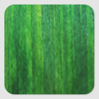 Fresh Green grass painting Square Sticker