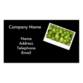 Fresh Green Jujube or Chinese Red Dates Business Card