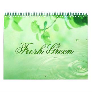 Fresh Green Leaves Customizable Calendar