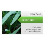 Fresh Green Leaves Skin Care Business Card