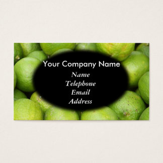 Fresh Green Lemons and Lime - Juice Theme Business Card