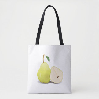 Fresh Green Skinned Pear Tote Bag