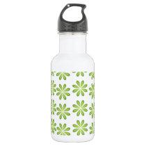 Fresh Green Spring Flower Pattern Water Bottle