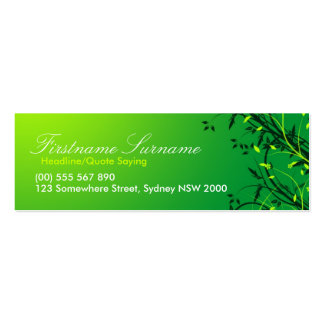 Fresh Green Vines Leaves compact cards Double-Sided Mini Business Cards (Pack Of 20)