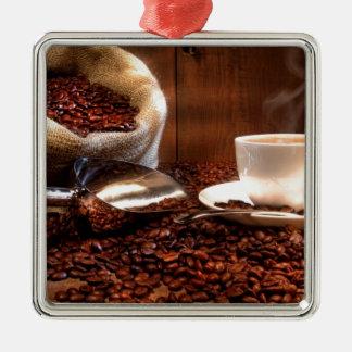 Fresh Ground Coffee Metal Ornament