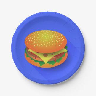 Fresh Hamburger Paper Plates