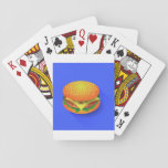"Fresh Hamburger Playing Cards<br><div class=""desc"">This design is a fresh hamburger. The hamburger has meat,  cheese and sauce. This fresh hamburger design looks great on this Playing Cards</div>"