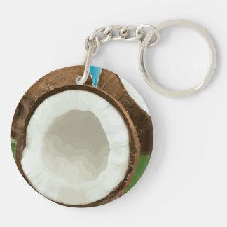 Fresh Hawaiian Coconuts Keychain