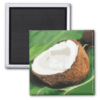 Fresh Hawaiian Coconuts Fridge Magnet