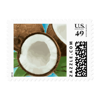 Fresh Hawaiian Coconuts Postage Stamps