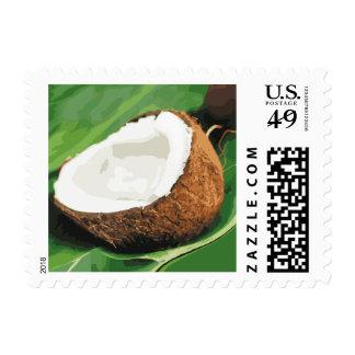 Fresh Hawaiian Coconuts Stamp