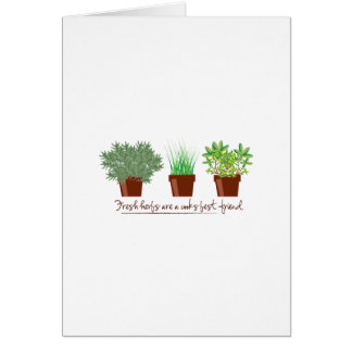 Fresh Herbs Are A Cook Greeting Card