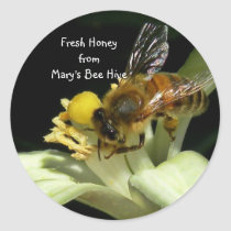 Fresh Honey Bee Hive Sticker Labels