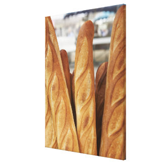 Fresh, hot baguettes canvas print