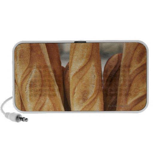 Fresh, hot baguettes travel speakers