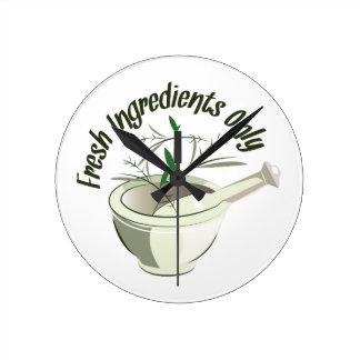 Fresh Ingredients Round Clock