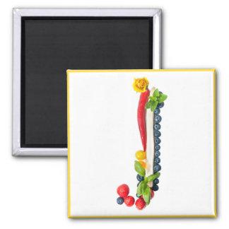 fresh initial letter magnet
