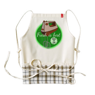 Fresh is best retro mixer design zazzle HEART apron