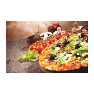 Fresh Italian pizza Canvas Print