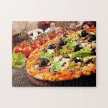 "Fresh Italian pizza Jigsaw Puzzle<br><div class=""desc"">Fresh italian pizza  &#169; and &#174; Bigstock&#174; - All Rights Reserved.</div>"