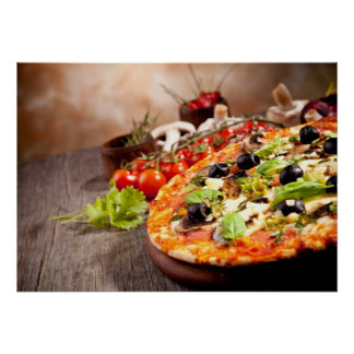 Fresh Italian pizza Poster