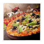 Fresh Italian pizza Small Square Tile
