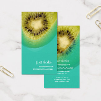 Fresh Kiwi for Organic growers Business Card