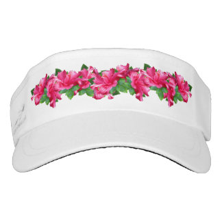 Fresh Lei of Pink Hibiscus Visor