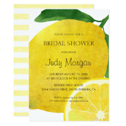 Fresh Lemon Bridal Shower Invitation Card