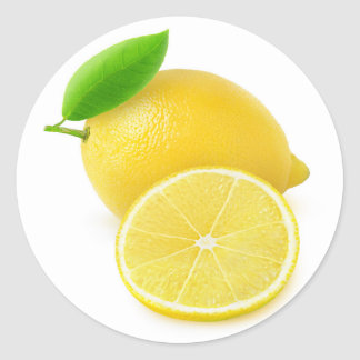 Fresh lemon classic round sticker