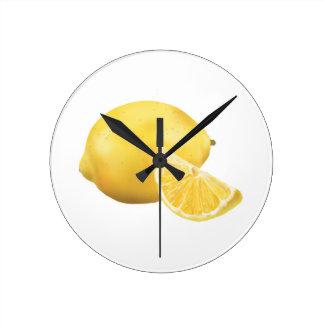 Fresh Lemon Round Wallclock