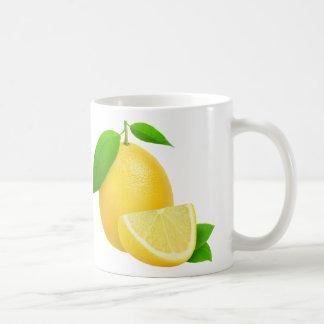 Fresh lemon coffee mug