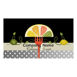 Fresh lemon & lime wedge design business cards