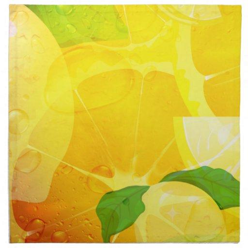 Fresh Lemon Slices American MoJo Napkin