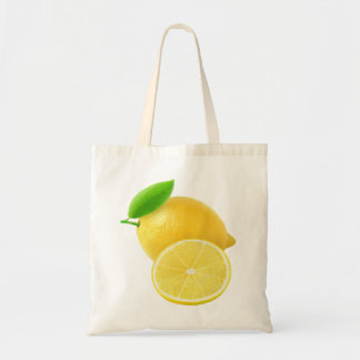 Fresh lemon tote bag