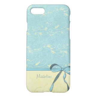Fresh Lemon Vines on Blue Custom Personalized Name iPhone 8/7 Case