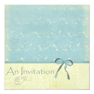 Fresh Lemon Vines on Robin's Egg Blue Invitation
