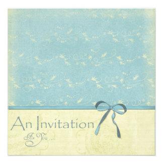 Fresh Lemon Vines on Robin's Egg Blue Invite