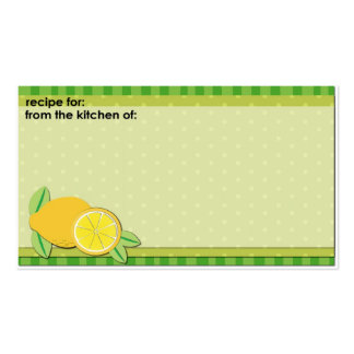 Fresh lemons business size recipe cards Double-Sided standard business cards (Pack of 100)