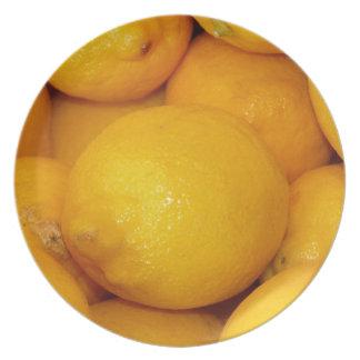 Fresh Lemons Melamine Plate