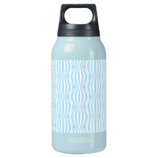 Fresh Light Blue and White Circle Pattern Insulated Water Bottle