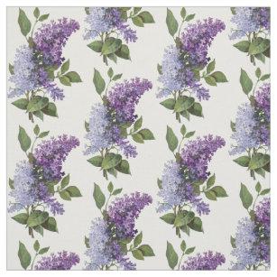 lilac flowers fabric zazzle